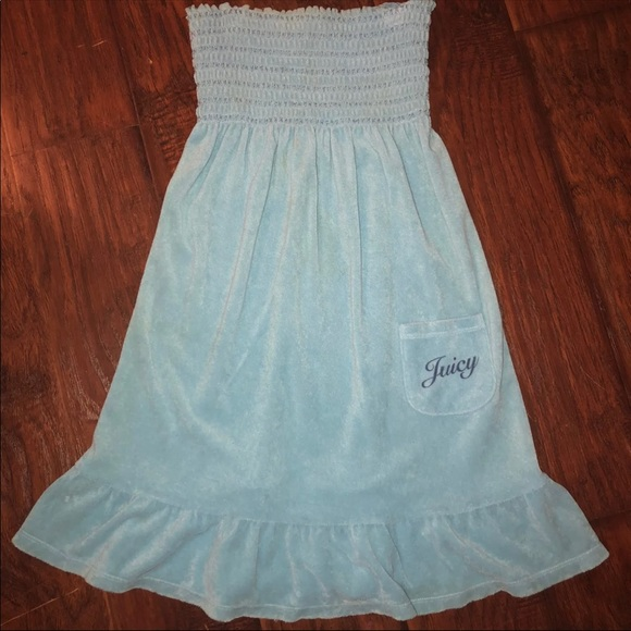 fd70f2975ed Juicy Couture Dresses   Skirts - Juicy Couture smock terry tube dress M Blue